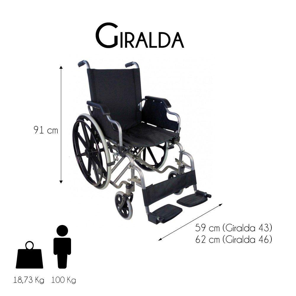Medidas de una silla de ruedas